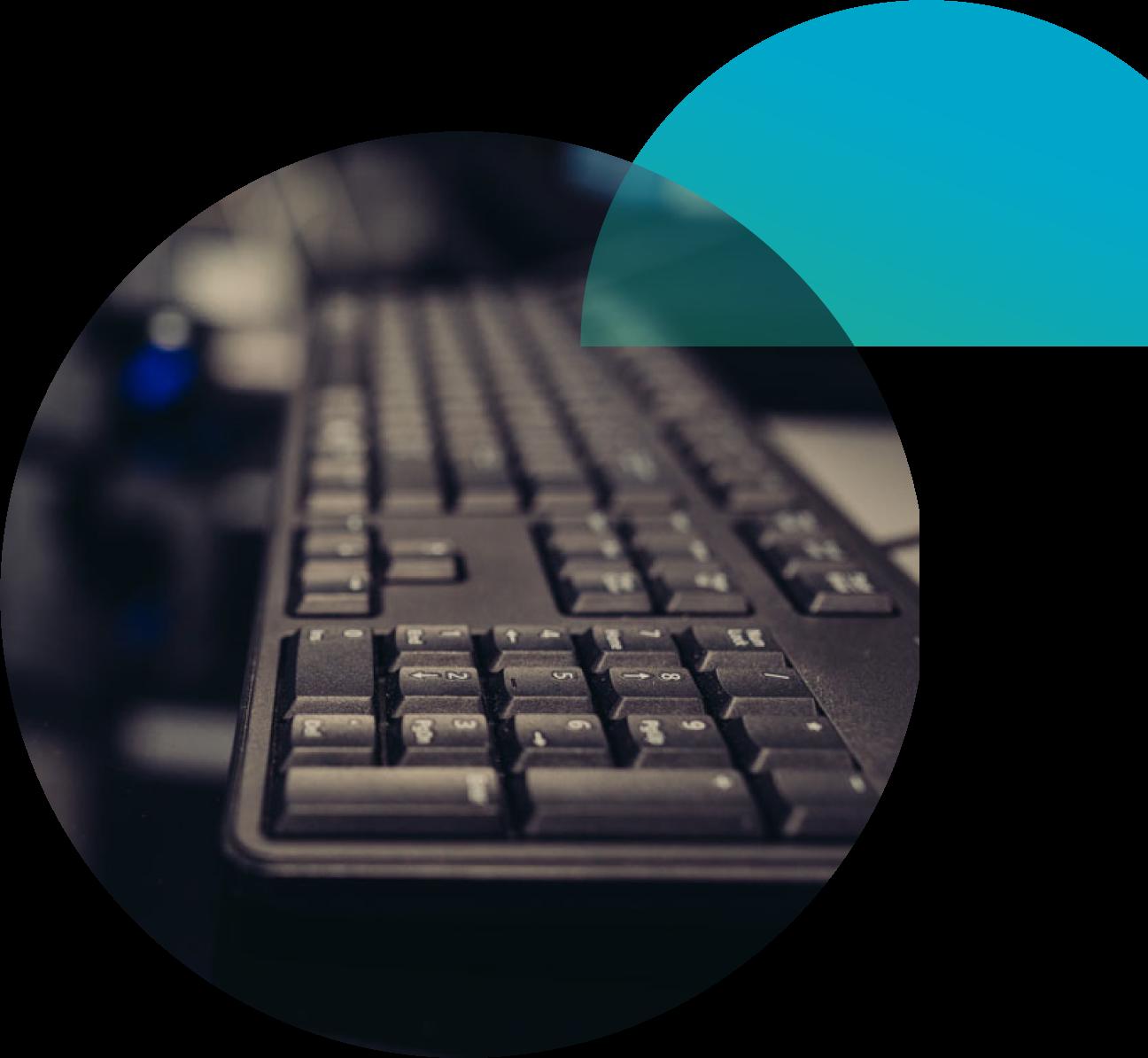 black plastic computer keyboard
